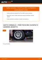 Kuinka vaihtaa koiranluu eteen Ford Focus MK2-autoon – vaihto-ohje