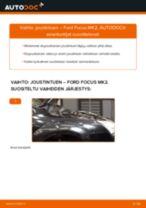 Kuinka vaihtaa joustintuki eteen Ford Focus MK2-autoon – vaihto-ohje