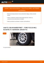 Kuinka vaihtaa iskunvaimentimet taakse Ford Focus MK2-autoon – vaihto-ohje