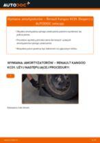 Jak wymienić i wyregulować Amortyzatory RENAULT KANGOO: poradnik pdf