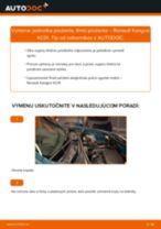 RENAULT Tlmiče perovania zadné a predné vymeniť vlastnými rukami - online návody pdf