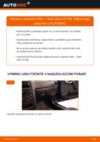 Ako vymeniť filter vnútorného priestoru na Opel Astra G F48 – návod na výmenu