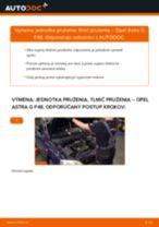 Ako vymeniť predné jednotka prużenia, tlmič prużenia na Opel Astra G F48 – návod na výmenu