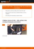 Podrobný PDF tutorial k výmene OPEL ASTRA G Hatchback (F48_, F08_) Olejový filter