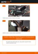 Jak vyměnit přední stírací lišty na Renault Megane 2 – návod k výměně
