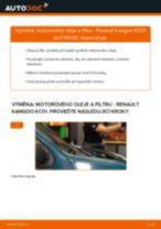 Doporučení od automechaniků k výměně RENAULT Renault Kangoo kc01 1.4 Brzdové Destičky