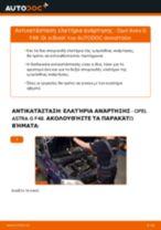 Πώς να αλλάξετε ελατήρια ανάρτησης εμπρός σε Opel Astra G F48 - Οδηγίες αντικατάστασης