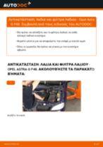 Πώς να αλλάξετε λαδια και φιλτρα λαδιου σε Opel Astra G F48 - Οδηγίες αντικατάστασης