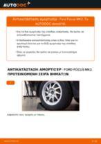 Πώς να αλλάξετε αμορτισέρ πίσω σε Ford Focus MK2 - Οδηγίες αντικατάστασης