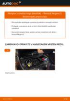 Kako zamenjati avtodel vzmetna noga (blazilnik) spredaj na avtu Renault Megane 2 – vodnik menjave