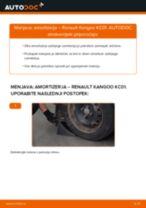 Kako zamenjati in prilagoditi Blažilnik RENAULT KANGOO: vodnik pdf