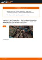 PDF priročnik za zamenjavo: Zracni filter RENAULT KANGOO (KC0/1_)