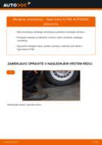 Kako zamenjati avtodel amortizer zadaj na avtu Opel Astra G F48 – vodnik menjave