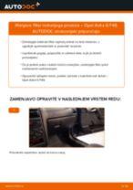 Kako zamenjati avtodel filter notranjega prostora na avtu Opel Astra G F48 – vodnik menjave
