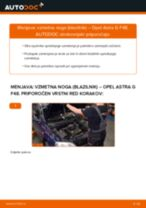 Kako zamenjati avtodel vzmetna noga (blazilnik) spredaj na avtu Opel Astra G F48 – vodnik menjave