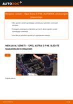 Kako zamenjati avtodel vzmeti spredaj na avtu Opel Astra G F48 – vodnik menjave
