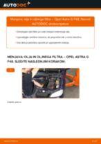 Kako zamenjati avtodel motorna olja in filter na avtu Opel Astra G F48 – vodnik menjave
