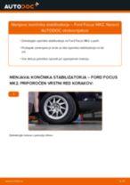 Kako zamenjati avtodel končnik stabilizatorja spredaj na avtu Ford Focus MK2 – vodnik menjave