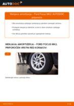 Kako zamenjati avtodel amortizer zadaj na avtu Ford Focus MK2 – vodnik menjave