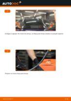 Como mudar escovas do limpa vidros da parte dianteira em Opel Astra G F48 - guia de substituição