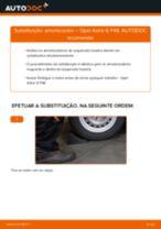 Como mudar amortecedores da parte traseira em Opel Astra G F48 - guia de substituição