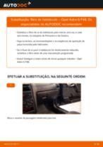 Como mudar filtro habitáculo em Opel Astra G F48 - guia de substituição