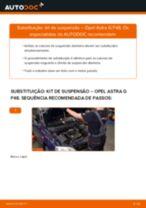 Como mudar kit de suspensão da parte dianteira em Opel Astra G F48 - guia de substituição
