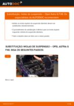 Como mudar molas de suspensão da parte dianteira em Opel Astra G F48 - guia de substituição