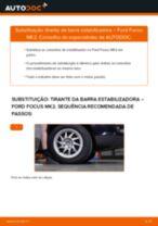 Como mudar tirante da barra estabilizadora da parte dianteira em Ford Focus MK2 - guia de substituição