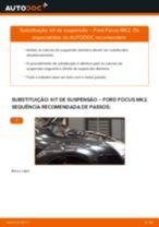 Como mudar kit de suspensão da parte dianteira em Ford Focus MK2 - guia de substituição
