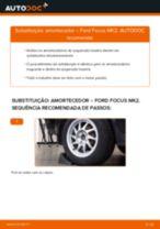 Como mudar amortecedores da parte traseira em Ford Focus MK2 - guia de substituição