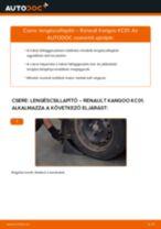 Hogyan cseréje és állítsuk be Gólyaláb RENAULT KANGOO: pdf útmutató