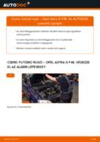 Elülső futómű rugó-csere Opel Astra G F48 gépkocsin – Útmutató