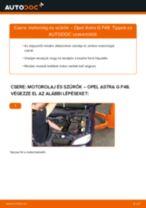 Motorolaj és szűrők-csere Opel Astra G F48 gépkocsin – Útmutató