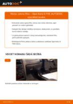 OPEL ASTRA Salona filtrs maiņa: bezmaksas pdf