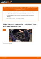 Kā nomainīt: priekšas amortizatora statni Opel Astra G F48 - nomaiņas ceļvedis
