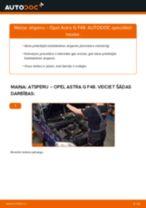 Kā nomainīt: priekšas atsperes Opel Astra G F48 - nomaiņas ceļvedis