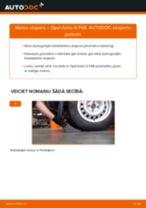 Kā nomainīt: aizmugures atsperes Opel Astra G F48 - nomaiņas ceļvedis