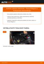 Kaip pakeisti Renault Megane 2 pakabos statramstis: priekis - keitimo instrukcija