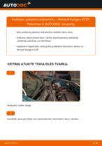 Žingsnis po žingsnio pakeiskite FIAT CROMA (154) Amortizatorius PDF vadovas