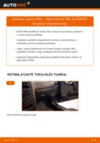 Kaip pakeisti Opel Astra G F48 salono filtro - keitimo instrukcija