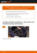 Kaip pakeisti Opel Astra G F48 pakabos statramstis: priekis - keitimo instrukcija