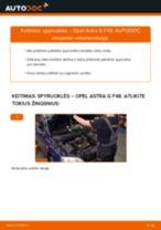 Kaip pakeisti Opel Astra G F48 spyruoklės: priekis - keitimo instrukcija