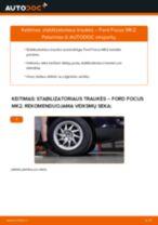 Kaip pakeisti Ford Focus MK2 stabilizatoriaus traukės: priekis - keitimo instrukcija