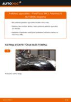 Kaip pakeisti Ford Focus MK2 spyruoklės: priekis - keitimo instrukcija