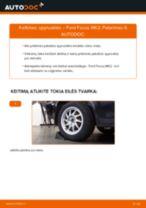 Kaip pakeisti Ford Focus MK2 spyruoklės: galas - keitimo instrukcija