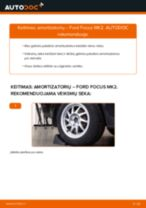 Kaip pakeisti Ford Focus MK2 amortizatorių: galas - keitimo instrukcija