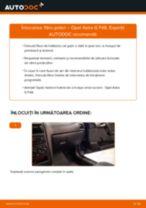 Cum să schimbați: filtru polen la Opel Astra G F48   Ghid de înlocuire