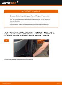 Wie der Wechsel durchführt wird: Koppelstange 1.6 RENAULT MEGANE II Saloon (LM0/1_) tauschen