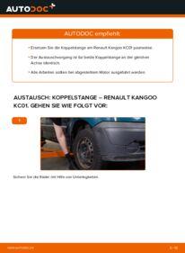 Wie der Wechsel durchführt wird: Koppelstange D 65 1.9 Renault Kangoo KC tauschen